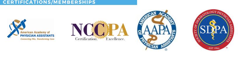 REBECCA DARROUDI, Certifications/Memberships